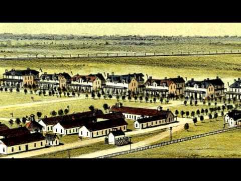 Fort Reno Oklahoma 1891 Panoramic Bird's Eye View Map 6957