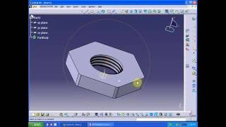 Catia V5 tutorial | Part Design | Simple Nut [ Must Watch]