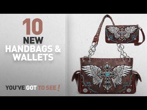 Western Handbags & Wallets [2018 New Arrivals]: Western Fleur De Lis Wings Shoulder Bag Concealed
