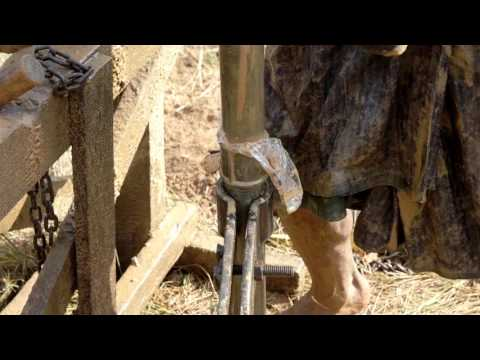 Myanmar Traditional Well Drilling