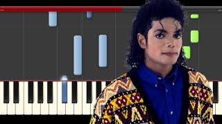 Michael Jackson Earth Song Piano Cover Midi tutorial Sheet app  Karaoke видео