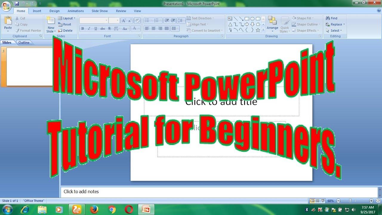Microsoft powerpoint tutorials part 1 youtube microsoft powerpoint tutorials part 1 baditri Image collections