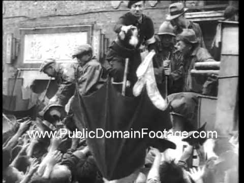 1938 Japan invades Shanghai newsreel archival footage  www.PublicDomainFootage.com