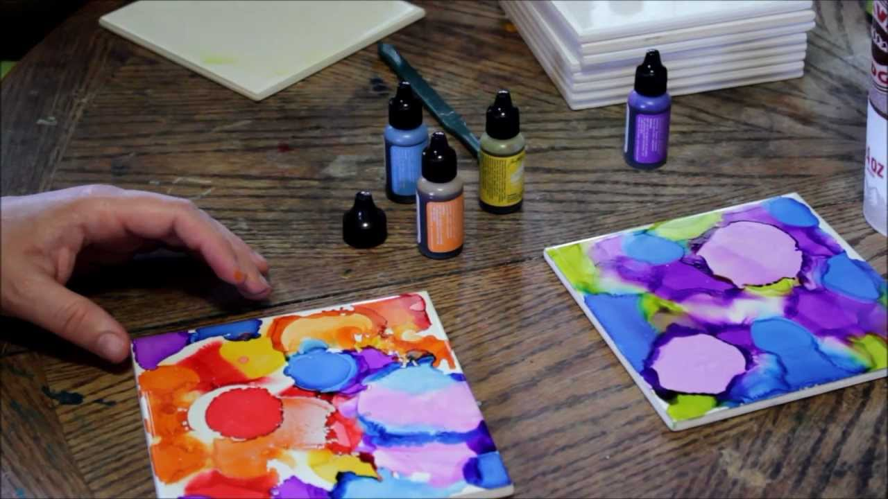 How to use alcohol ink on ceramic tiles cool diy home decorating how to use alcohol ink on ceramic tiles cool diy home decorating idea youtube dailygadgetfo Image collections