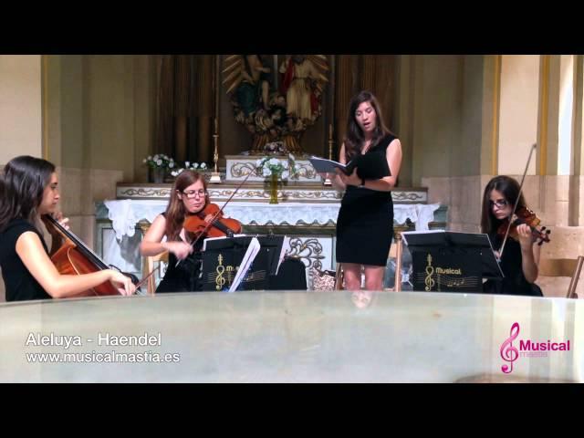 Aleluya Haendel - Soprano y trio BODAS MURCIA ORIHUELA TOTANA JUMILLA Musical Mastia