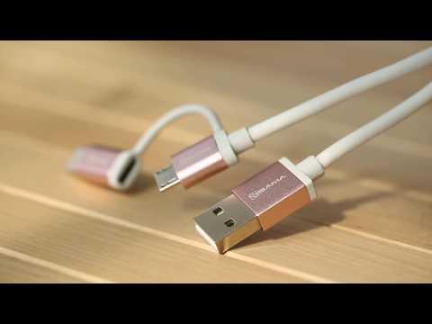 SA-30402 Micro USB Cable with USB-C Adapter