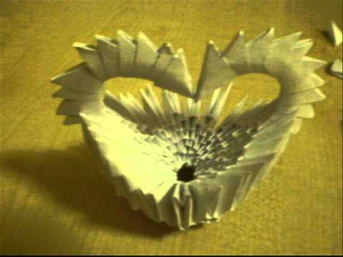 How To Make 3d Origami Heart Basket