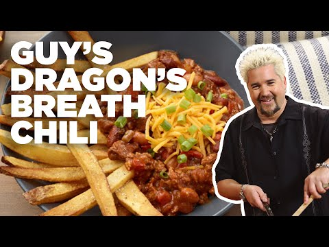 Guy Fieri's DRAGON'S Breath Chili with French FRIES | Food Network