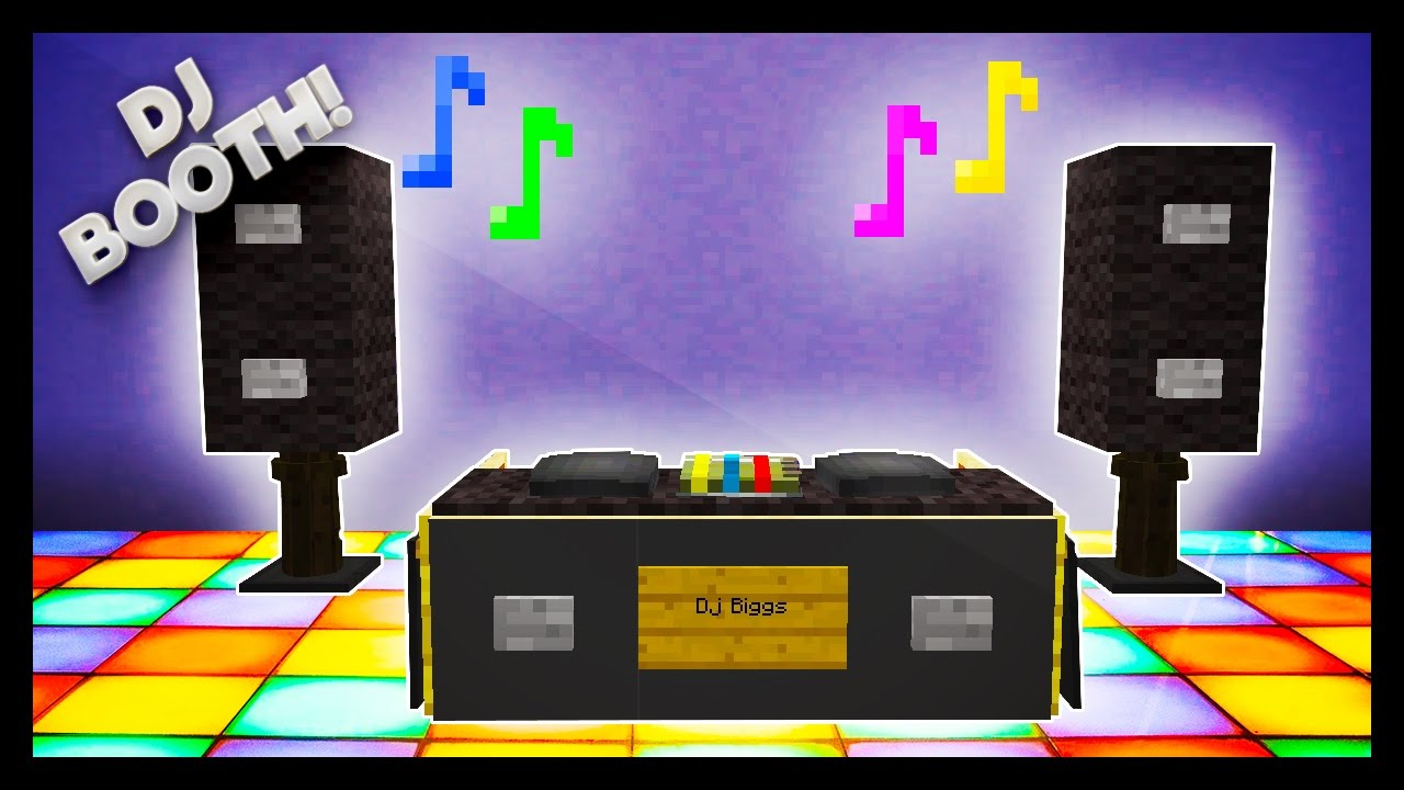 Minecraft How To Make A Dj Booth Youtube