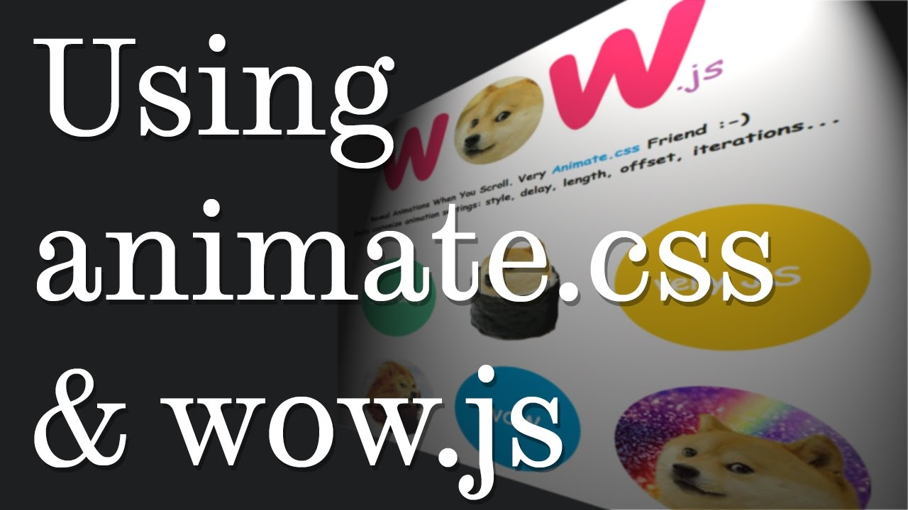 Download How to use Animate.css and wow.js