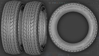 3D Car Tire Modeling Tutorial