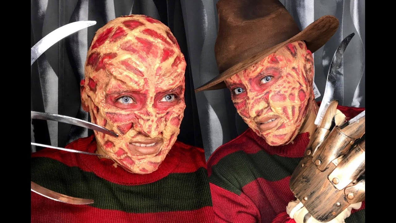 freddy krueger halloween makeup tutorial /chaya mua - youtube