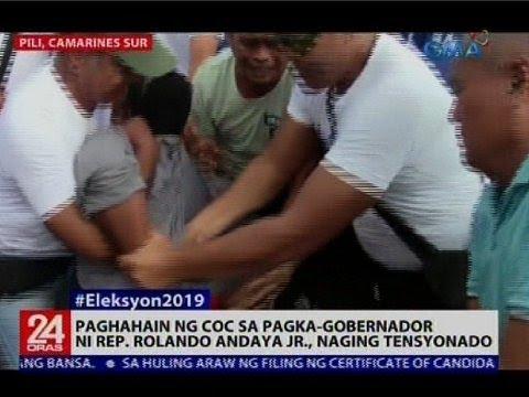 Paghahain ng COC sa pagka-gobernador ni Rep. Rolando Andaya Jr., naging tensyonado