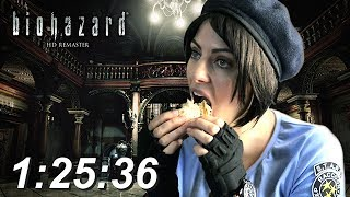 Resident Evil HD Remaster Speed Run 1:25:36 PS3 Jill STARS 720p