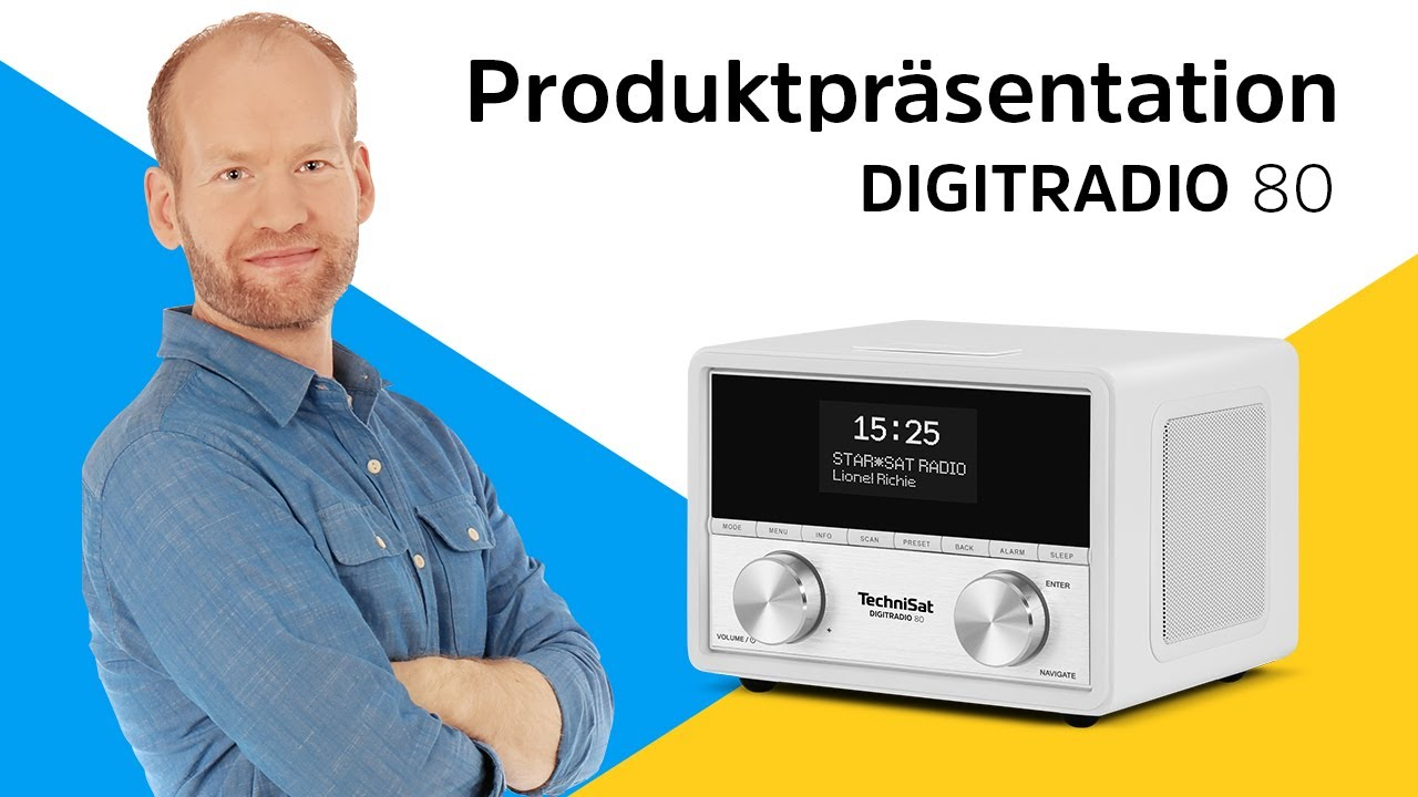 Video: DIGITRADIO 80  | Radio-Wecker der Extra-Klasse. | TechniSat