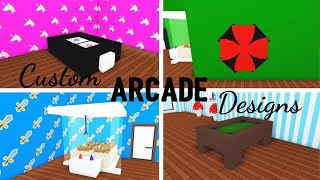 4 Custom ARCADE/GAMING Design Ideas & Building Hacks (Roblox Adopt me) Pool Table, Air Hockey Table