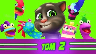 Мой Говорящий Том 2 #39 друзья Анджела Ухаживаем за питомцем #Том_2 #Том