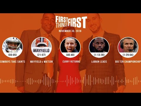 First Things First audio podcast(11.30.18)Cris Carter, Nick Wright, Jenna Wolfe | FIRST THINGS FIRST