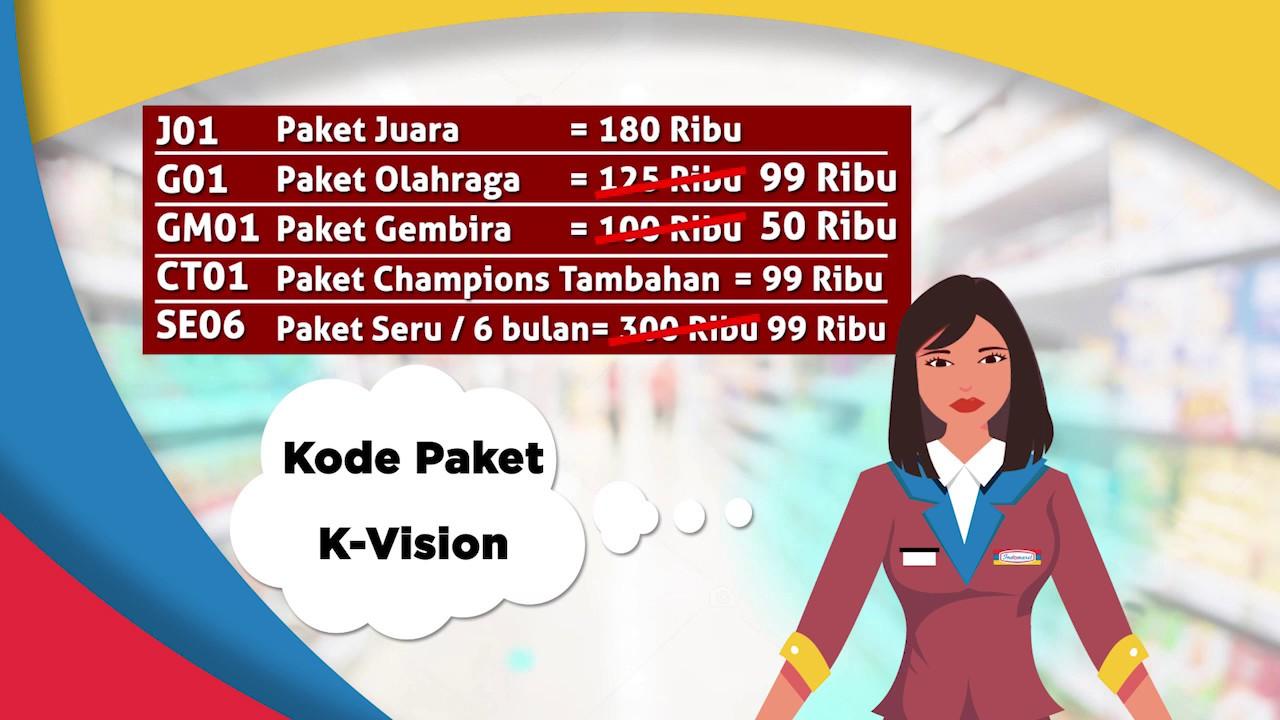 Beli Paket K Vision Di Indomaret Mudah Banget Youtube