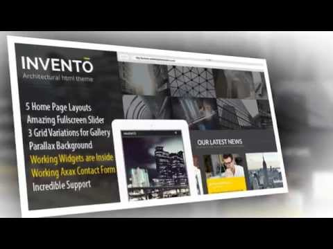 Invento Responsive Architecture HTML5 Template - Video ServerThemes.Net