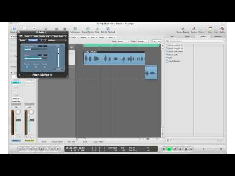 How To: Logic Pro 9 - Vocal Drops and Pitch Shifting Your Vocals (Like in Hip Hop/Pop/Dance Music)