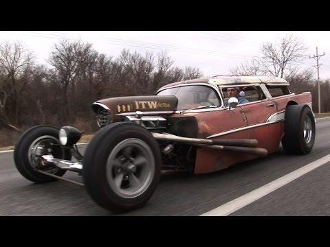 INSANE 57 Chevy Wagon RAT ROD!