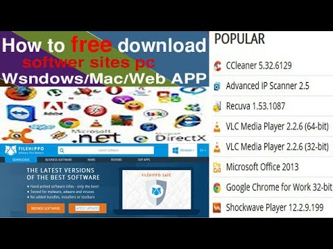 how to free download softwer sites pc