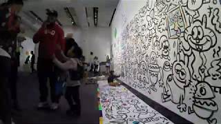 Live colouring in mural painting for Free Arts NY