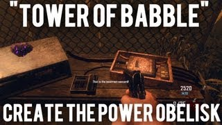 "*new* Black Ops 2 Zombies- How To Build The Power Obelisk For ""tower Of Babble"" Achievement!"