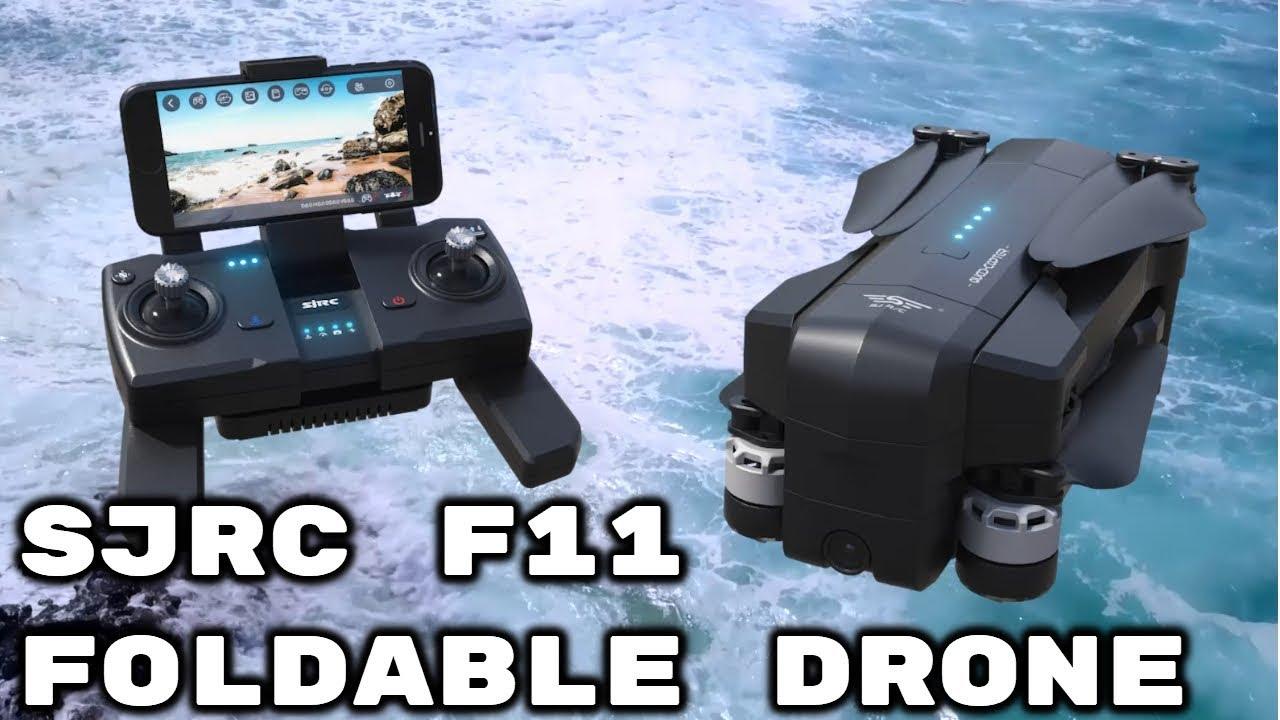 SJRC F11 1080P GPS 5G WiFi FPV Foldable Brushless RC Drone 25min Flight  Time RTF - Black