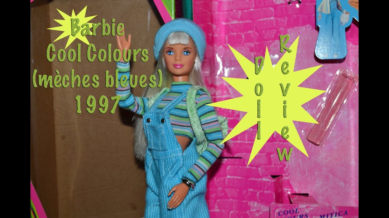 Barbie Cool Colours Ou Cool Blue 1997 Doll Review Fr Youtube