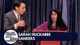Sarah Huckabee Sanders Stops Fallon Tonight