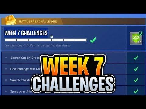 "🔥Fortnite WEEK 7 CHALLENGES GUIDE! + New ""Ltm"" Mode! - Fortnite Battle Royale Live! thumbnail"