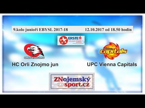 9.kolo EBYSL HC Orli Znojmo jun  - UPC Vienna Capitals   12.10.2017 od 18.50 hodin