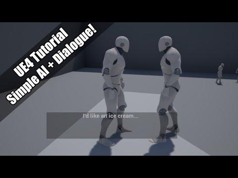 UE4 - Tutorial - Roaming AI and Basic Dialogue!