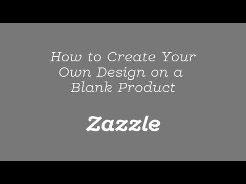 How to Create Your Own Design on a Blank Product - Tutorial