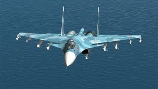 DCS Sukhoi Su-33 Flanker game play and Landing Attempt on Admiral Kuznetsov aircraft carrier
