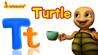 Phonics Songs | T is for Turtle | Learn Alphabet Sounds | Infobells