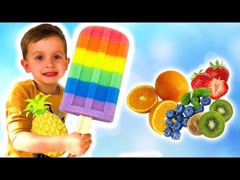 Colors Song  - RAINBOW POPSICLES | Nursery Rhymes \u0026 Kids Songs with Alex Kids Tv
