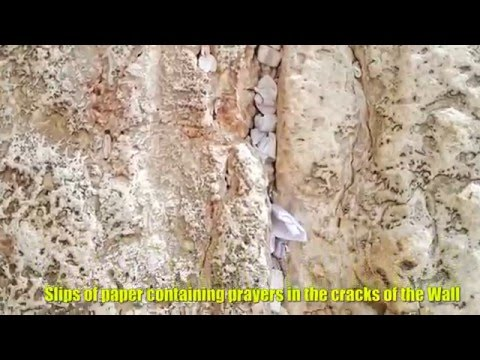A tour of the Western Wall (Wailing Wall) Old City of Jerusalem, Israel