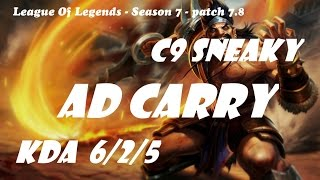 ad carry c9 sneaky draven vs lucian patch 7 8 league of legends korean ranked challenge