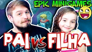 DAD VS DAUGHTER-who is the best at THIS GAME? (DAD ALSO PLAYS) ROBLOX EPIC MINIGAMES