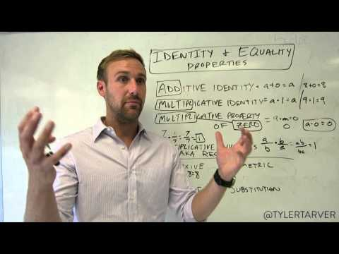1.3 ALGEBRA - Identity and Equality Properties