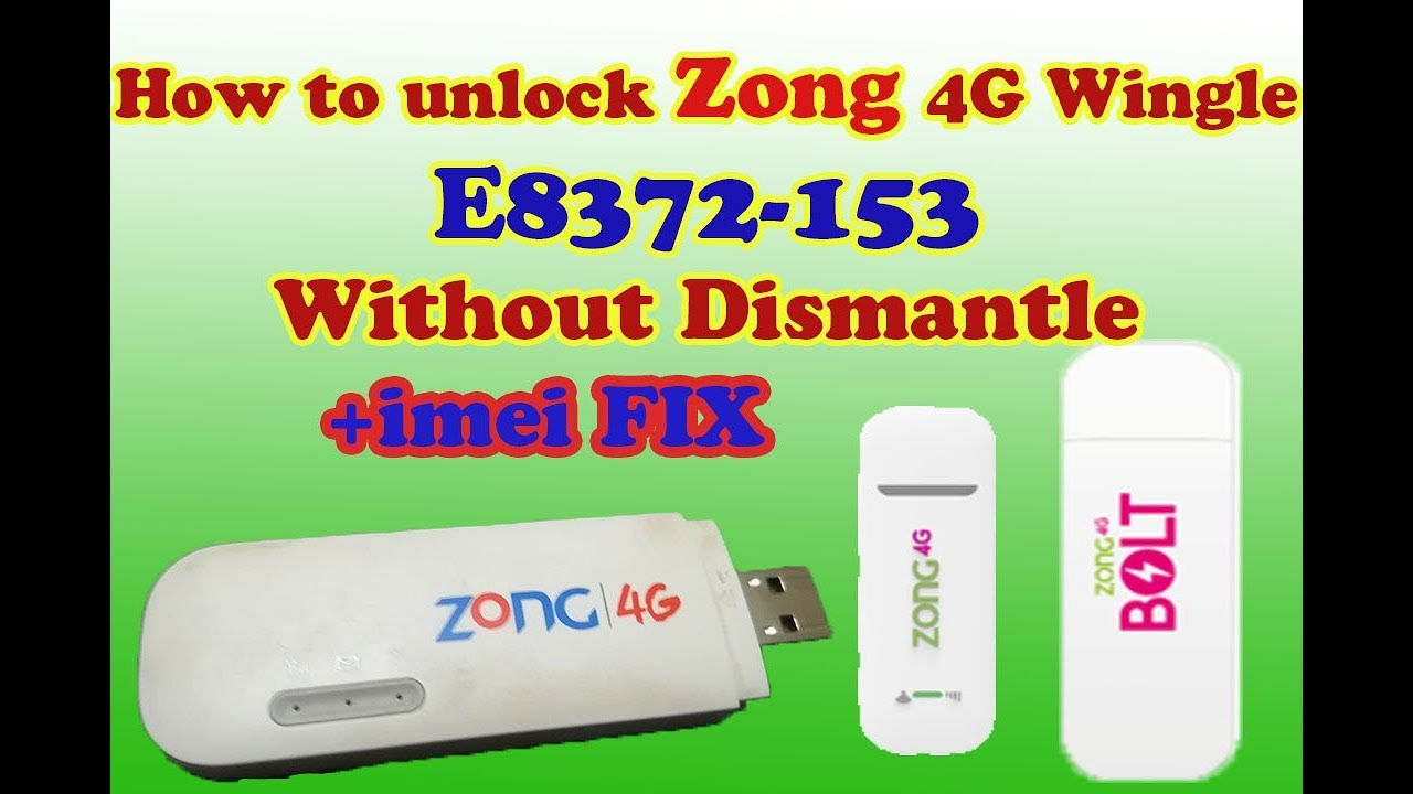 How to Unlock Zong E8372h 153 Without Open For All Networks+IMEI fixed