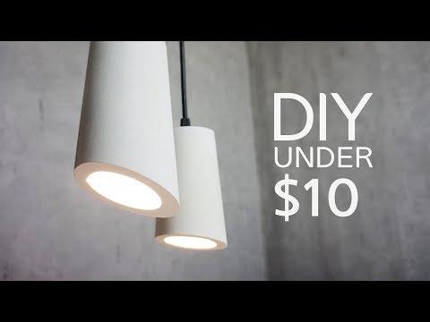 How to make a DIY Modern Concrete Lamp || 나만의 콘크리트 조명 만들기