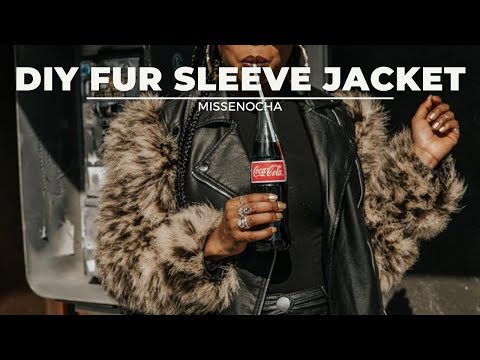 DIY Faux Fur Sleeve Leather Jacket (NO SEW!) - YouTube 4e8d2c4f82