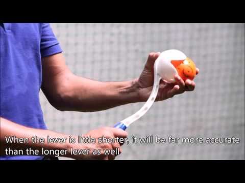 Gautam Gambhir's Practice using Spingball & Speedarm Cricket Ball Thrower