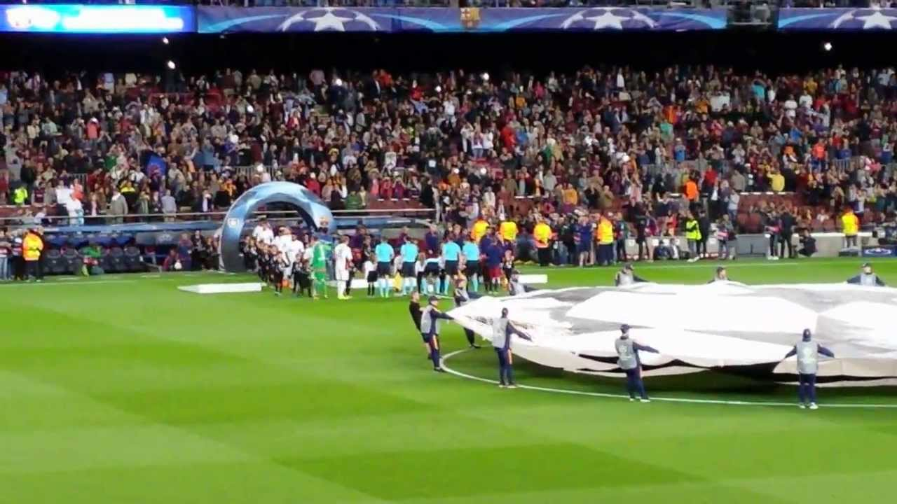 FC Barcellona-Bayer Leverkusen 2-1 Champions League 2015-2016 Ingresso delle squadre in campo