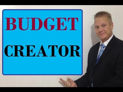 simple budget creator for your home finances youtube