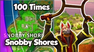 I Landed At Snobby Shores 100 Times and This Is What Happened | Fortnite Battle Royale